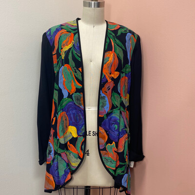 Platinum Collection Multicolored Floral Cardigan