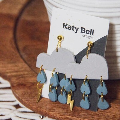 Katy Bell Designs Astrape Polymer Clay Earrings
