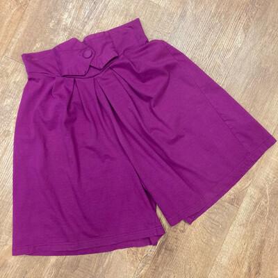 Magenta High-Waist Shorts