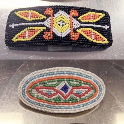Beaded Barrette Set - Hold for Mianna