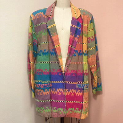 Colorful Patterned Blazer