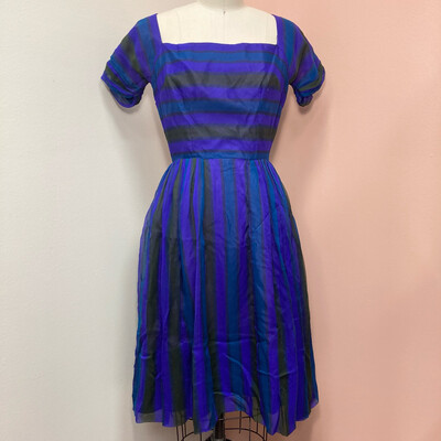 1950s Mr. Mort Striped Dress