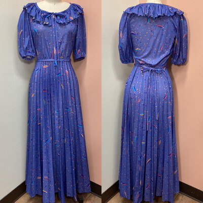 Periwinkle Pleated Maxi Dress