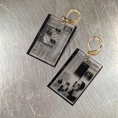 Lapis Lily 1984 WashingtonPost Microfilm Earrings