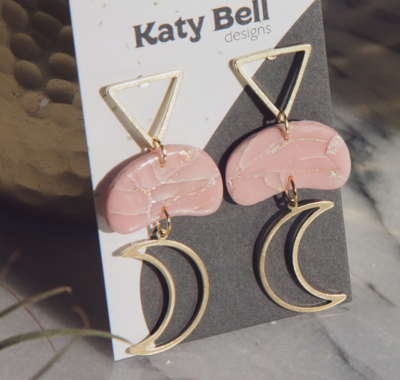 Katy Bell Designs Celeste Polymer Clay Earrings