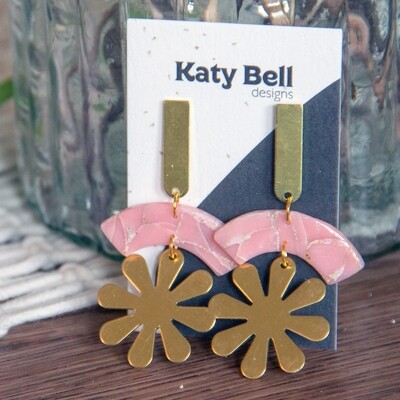 Katy Bell Designs Marguerite Polymer Clay Earrings