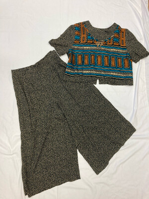 Tribal Print Two-Piece Pant Set
