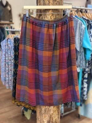 Soft Cotton Plaid Skirt