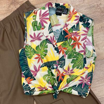 Sleeveless Hawaiian Top