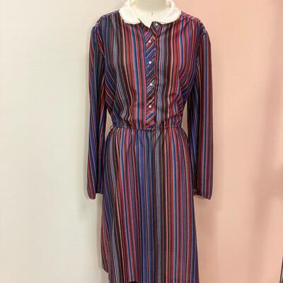 Colorful Striped Empire Waist Dress