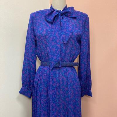 90s Purple Print Dress