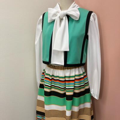 1970s Two Piece & Belt Dress