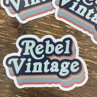 Rebel Vintage Retro Sticker