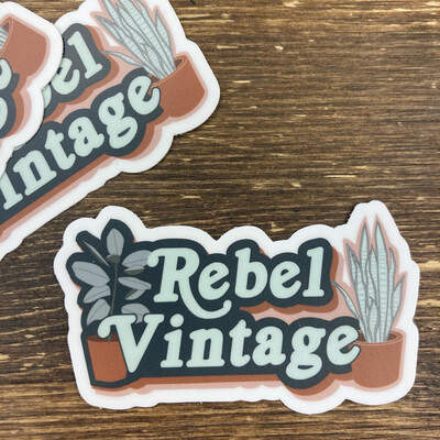 Rebel Vintage Plant Sticker