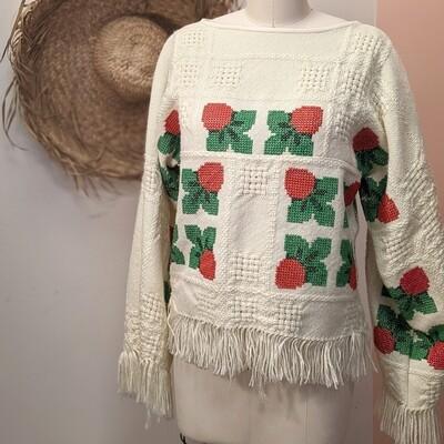 Handmade Woven Strawberry Blouse