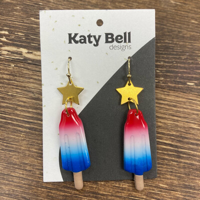 Katy Bell Designs Polymer Clay Popsicle Earrings