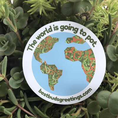 Best Buds Greetings   The World Is Going To Pot Magnet