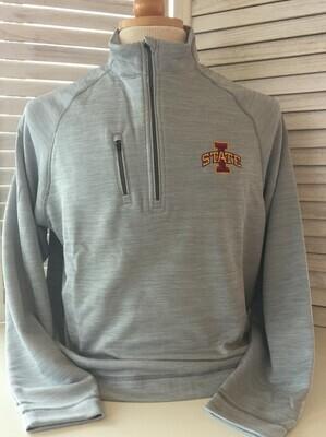 Men's Iowa State 1/4 Zip Grey