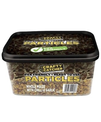 Particles Whole Maize with Chilli & Garlic by Crafty Catcher