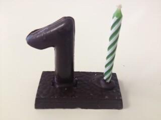 Espelma número de xocolata