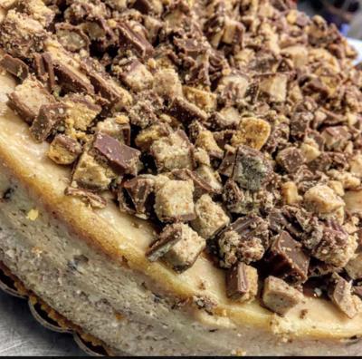 Brownie Bottom Reese's Cheesecake