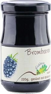 Brombeer-Fruchtaufstrich mit Birkenzucker gesüsst 220g