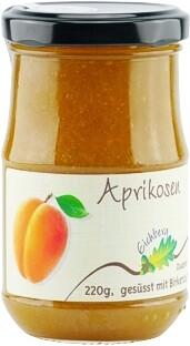 Aprikosen-Fruchtaufstrich mit Birkenzucker gesüsst 220g