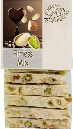 Bruchschokolade Fitness-Mix 140g