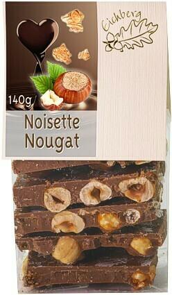Bruchschokolade Noisette-Nougat 140g