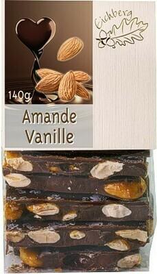 Bruchschokolade Amande-Vanille 140g
