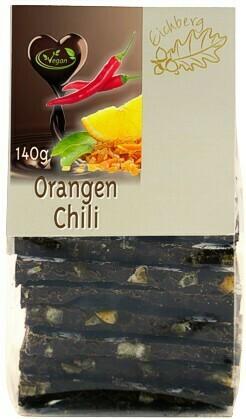 Bruchschokolade Orangen-Chili 140g