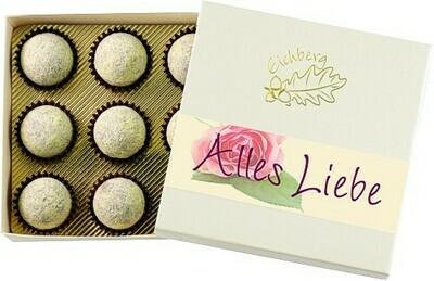 Alles Liebe / Champagner-Truffes 9 Stk. / 110g