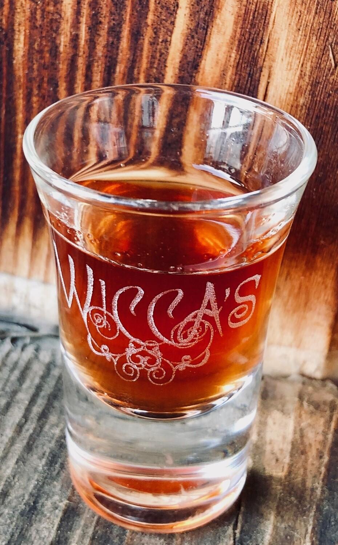 Wicca`s Schnapsglas mit Gravur 2cl