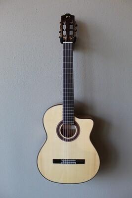Cordoba Iberia Series GK Studio Acoustic/Electric Flamenco Blanca Guitar
