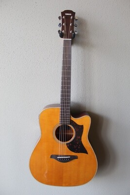Yamaha A1M Dreadnought Acoustic/Electric Guitar with Gig Bag - Natural