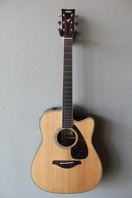 Yamaha FGX830C Dreadnought Acoustic/Electric Guitar with Gig Bag - Natural