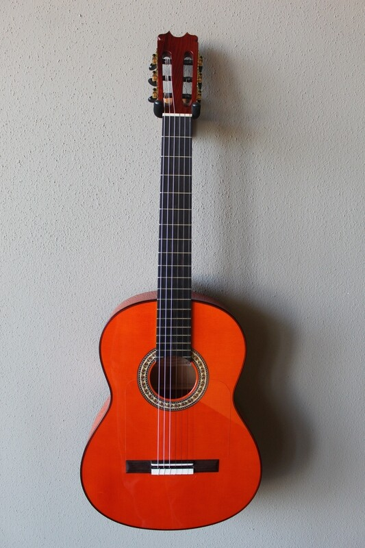 Francisco Navarro Jr. Conde Hermanos Tribute Flamenco Blanca Guitar