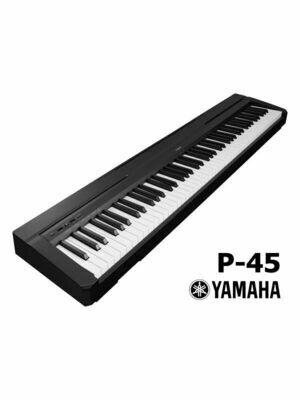 Yamaha P-45B 88-Key Weighted Action Digital Piano - Black