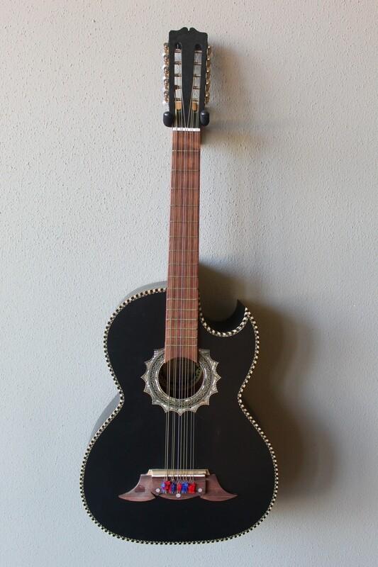 Paracho Elite Morelia Model Bajo Quinto Guitar with Gig Bag