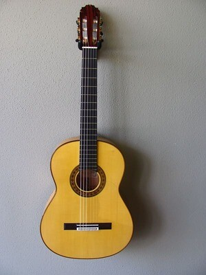 Francisco Navarro Reyes Model Grand Concert Flamenco Blanca Guitar