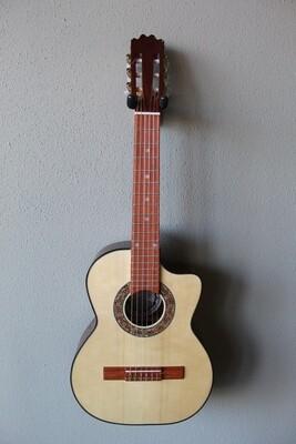 Paracho Elite Guitars Gonzales Model Requinto with Gig Bag
