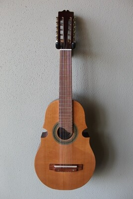 Paracho Elite Guitars Santiago Model Puerto Rican Style Cuatro with Gig Bag - Dark Cedar Top
