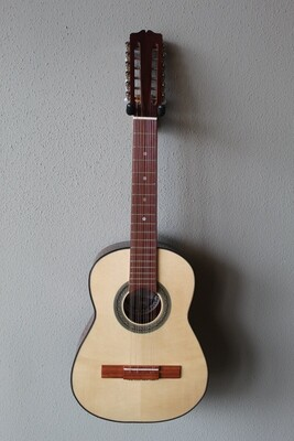 Paracho Elite Guitars Colombian Tiple 12 String Acoustic Guitar with Gig Bag