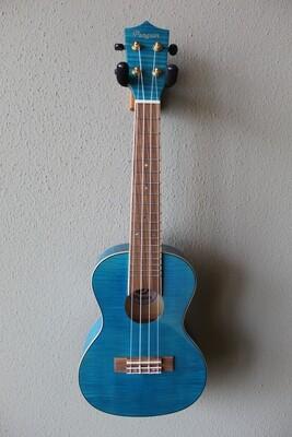 Penguin PGUK555BLC Flamed Maple Blue Concert Ukulele with Gig Bag