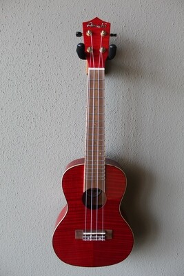 Amahi PGUK555RDC Flamed Maple Red Concert Ukulele with Gig Bag
