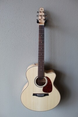 Seagull Performer Cutaway Mini Jumbo Flamed Maple Acoustic/Electric Guitar with Gig Bag