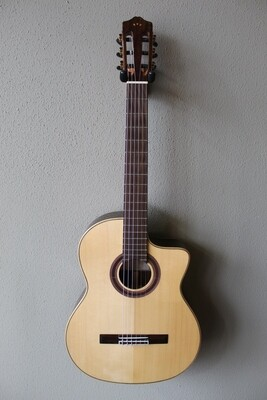 Used Cordoba GK Studio Limited Acoustic/Electric Flamenco Negra Guitar with Gig Bag