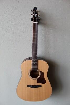 Seagull S6 Cedar Top Original Q1T Dreadnought Acoustic/Electric Guitar with Gig Bag