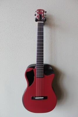 Journey OF660 Overhead Carbon Fiber Acoustic/Electric Travel Guitar - Maroon Matte
