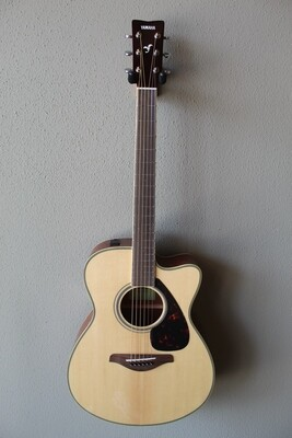 Yamaha FSX820C Steel String Acoustic/Electric Guitar with Gig Bag
